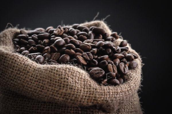koffiebonen in de zak
